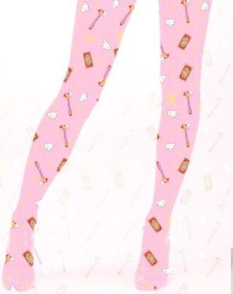 tights card captor sakura sakura cardcaptor kawaii fairy kei pantyhose