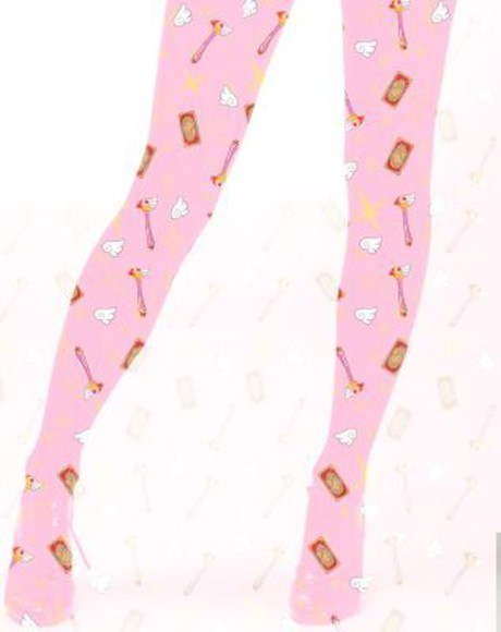tights pantyhose kawaii card captor sakura sakura cardcaptor fairy kei