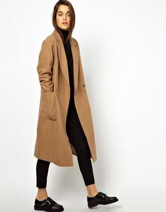 coat asos camel coat long coat wool coat winter coat