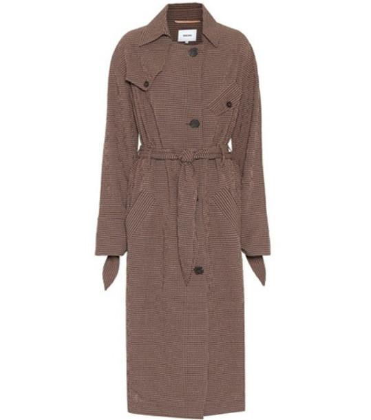 coat trench coat noir brown