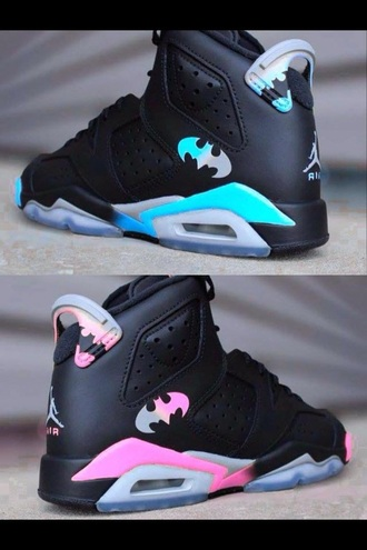 shoes blue batman jordans