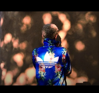 jacket willow smith addias jacket blue jacket