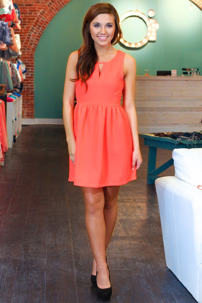 Coral Tulip Dress | uoionline.com: Women's Clothing Boutique