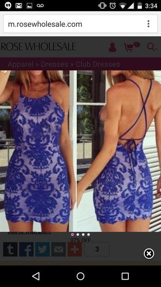 dress blue dress print dress backless dress bodycon dress club dress summer dress