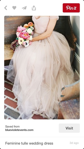 dress wedding dress hipster wedding tulle dress