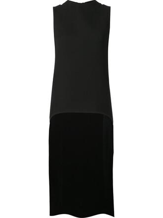 jacket sleeveless women black silk wool