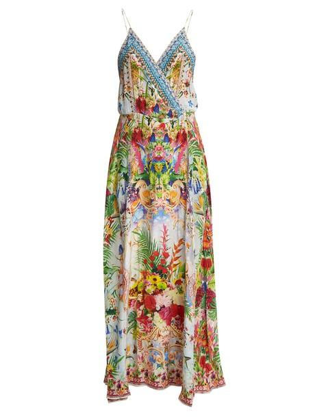 Camilla dress wrap dress silk green