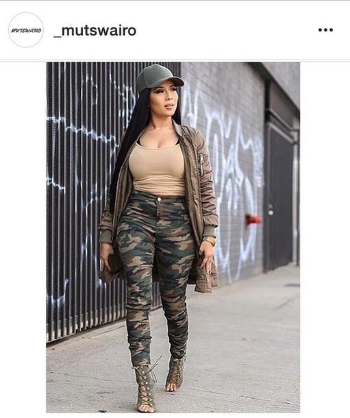 e1769f3a1e809 pants jeans camouflage camo pants high waisted jeans skinny jeans outfit  fall outfits khaki