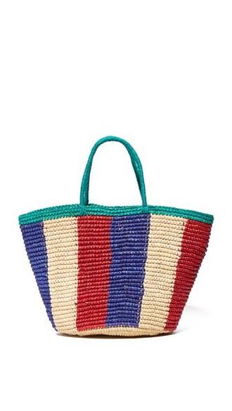 blue royal blue red bag