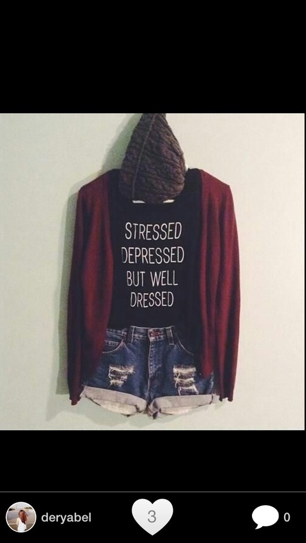 shirt t-shirt welldressed cardigan grunge black dark clothes shorts black t-shirt