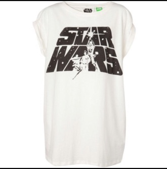 t-shirt star wars white t-shirt white top nerd