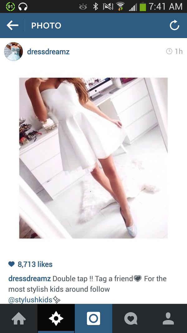 white dress dress short white instagram heart