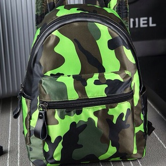 bag camouflage backpack rucksack lime