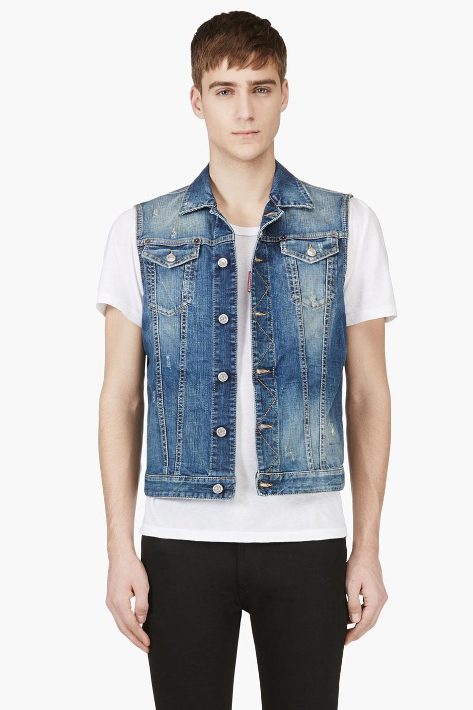 Denim vest mens fashion 12