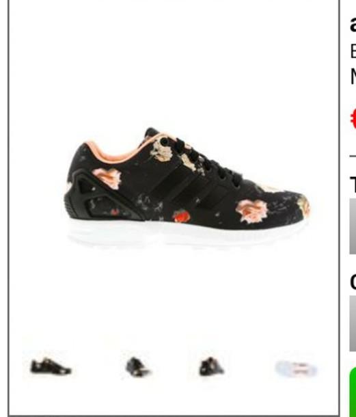 shoes trainers adidas zx flux floral shoes leggings