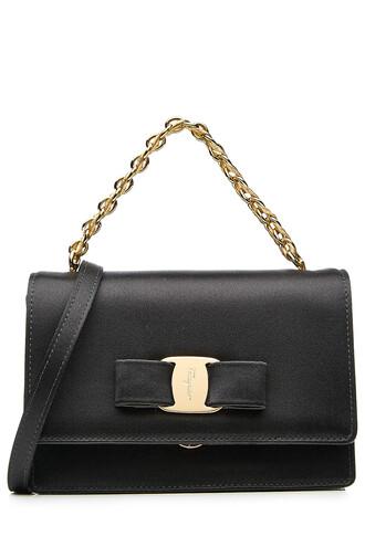 bag shoulder bag satin black