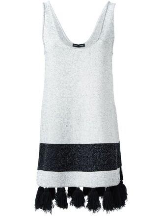 tunic sleeveless white top