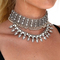 Riri beaded metal choker necklace