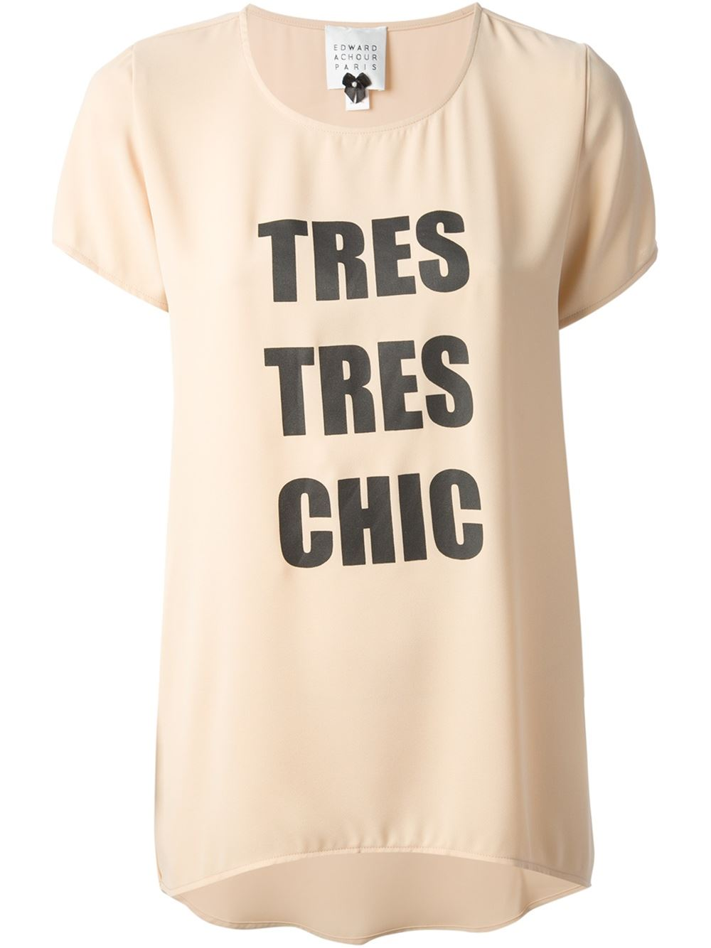 Edward Achour Paris 'tres Tres Chic' T-shirt - - Farfetch.com