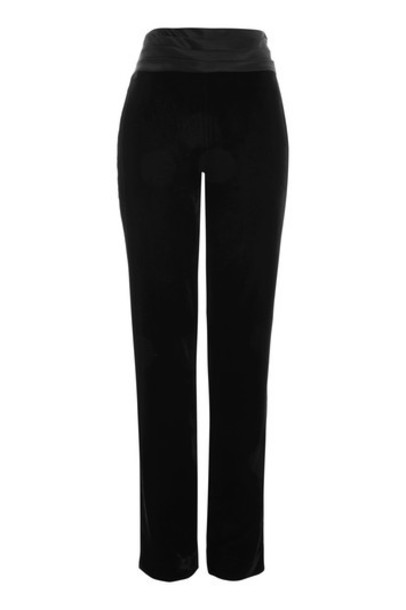 Topshop black velvet pants