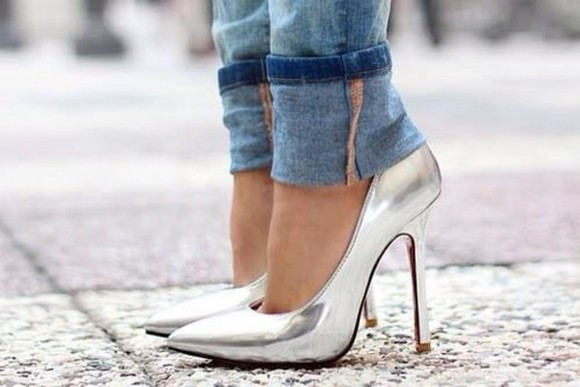 shoes silver high heels metallic metallic heels metallic high heels silver heels