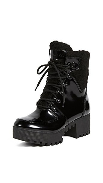 KENDALL + KYLIE lace up boots lace black shoes