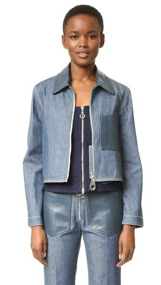 jacket cropped jacket denim cropped