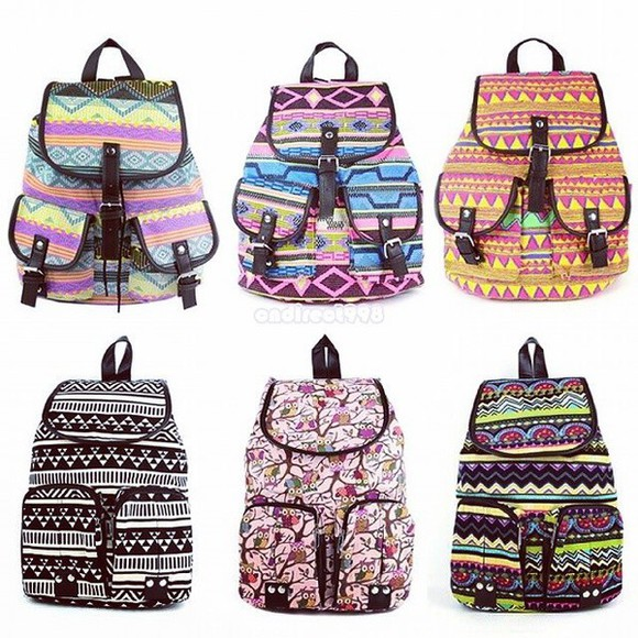 bag backpack aztec pattern tribal pattern