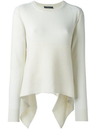 jumper loose women fit white sweater