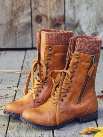 shoes boots brown pretty winter tumblr indie footwear