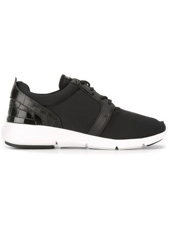 women sneakers lace leather black neoprene shoes