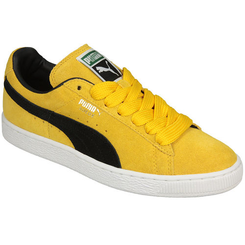 Footwear | Yellow Mens Puma Suede Classic Trainers | Get The ...