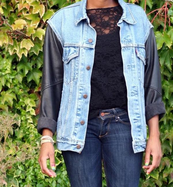 jacket jeans cuir