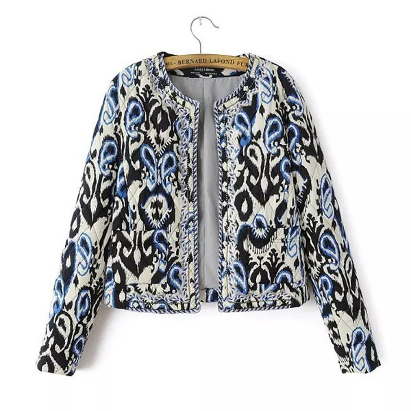 jacket cropped cropped jacket ornamented boho chic open front top