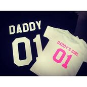 t-shirt,tees2peace,daddy,daddy and me,daddy and baby shirt,daddy and girl,daddy and baby,dad and baby tshirts,daddys girl,cute daddy shirt,daddy's girl,number,number tee,cute,cute outfits,pink,hakuna matata pinky,quote on it,modern family,menswear,baby pink,sweet,fancy