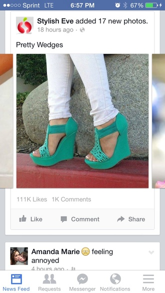 shoes open toes mint embellished