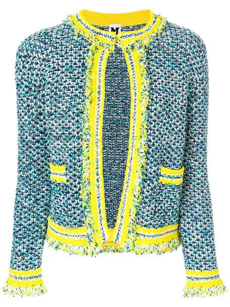 M Missoni jacket women cotton blue wool