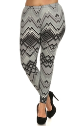 leggings,plus size high-waist zigzag print leggings,plus size,plussizeleggings