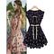 Fashion sleeveless fawn print women's chiffon dress_27.0