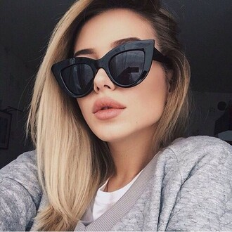 sunglasses girl girly girly wishlist black cat eye cat eye style