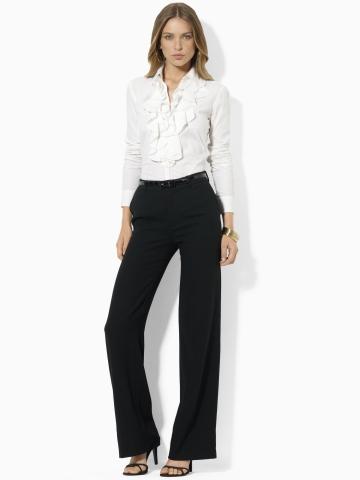 Mandelle Ruffled Blouse - Long-Sleeve  Shirts - RalphLauren.com