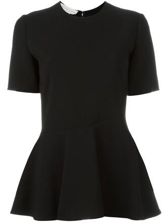 top women spandex black wool