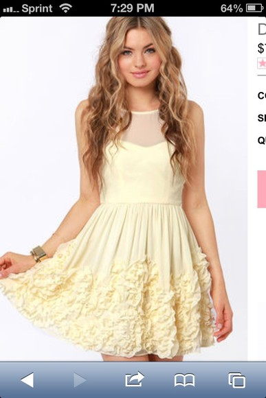 ivory dress dress ruffles pretty dress