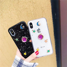 save off bef93 2a708 Women Girl Cute Bling Star Clear Case Soft Rubber Cover For iPhone X 8 7 6s  Plus   eBay