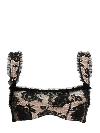 bra lace black underwear
