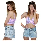 shorts,acid wash,acid shorts,festival,crop tops,neon,floral,fluo,denim,distressed shorts,tank top