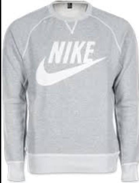 sweater grey sweater nike sweater