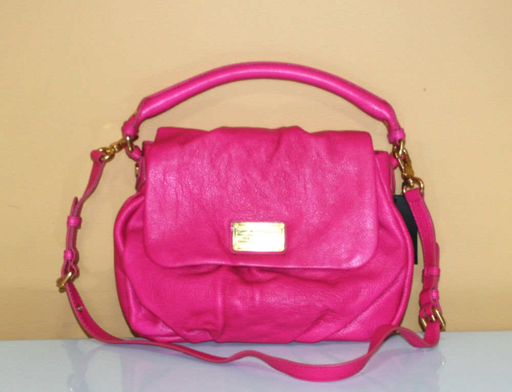 Marc by Marc Jacobs Classic Q Little Ukita Pop Pink Leather Bag $428   eBay