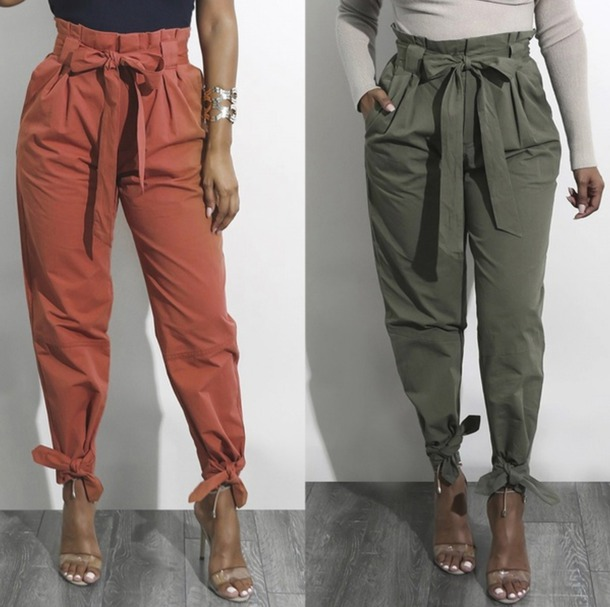 pants camel olive pants belted pants