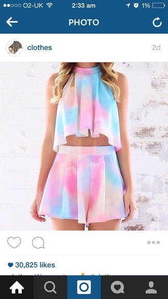 jumpsuit tie dye two-piece pretty